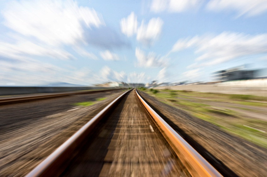 High speed rail tracks