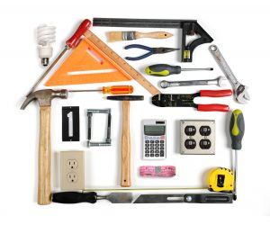 Tools forming a house with energy efficiency chimney